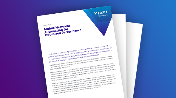 Mobile Networks: Automation for Optimized Performance