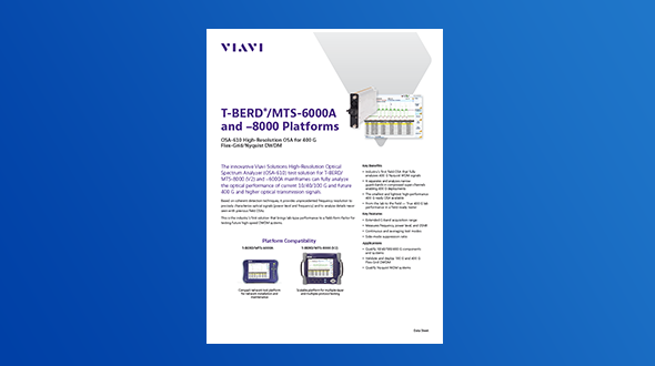 OSA-610 High-Resolution OSA for 400G Flex-Grid/Nyquist DWDM