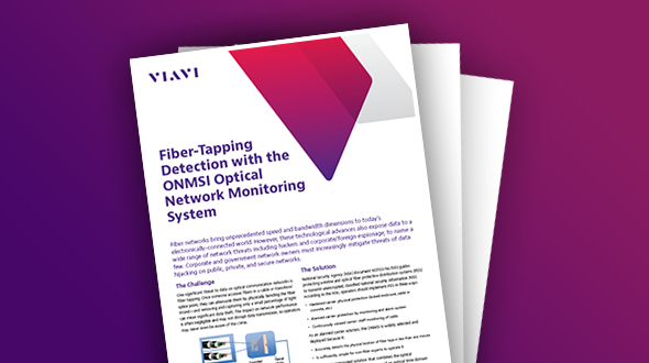Fiber-Tapping Detection with the ONMSi Optical Network Monitoring System