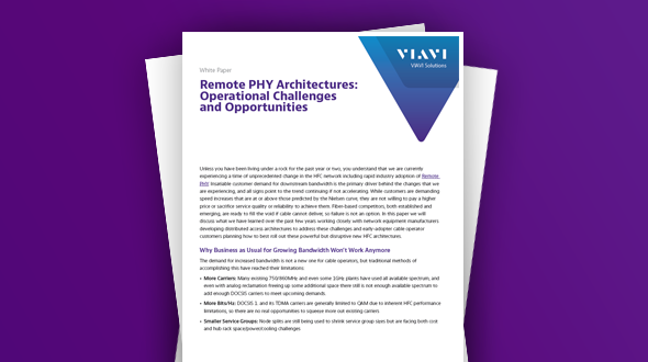 Remote PHY Architectures