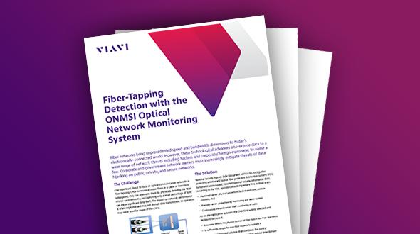ONMSi光ネットワーク監視システムでファイバータッピングを検出
