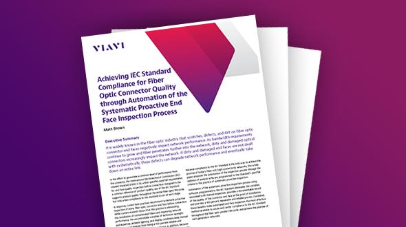 Obtenção de conformidade com o Padrão IEC para qualidade do conector de fibra óptica por meio da automação do processo proativo e sistemático de inspeção da face final