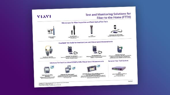 Soluções de teste e monitoramento de FTTH (Fiber to the Home)