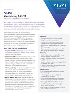 Solution Brief: Let VIAVI Simplify Your Remote Phy Transition