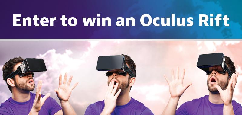 Enter to win an Oculus Rift