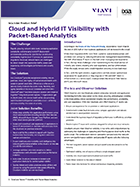Cloud and Hybrid IT Visibility with Packet-Based Analytics
