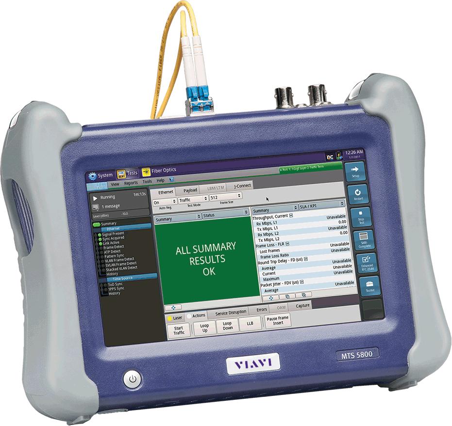 T Berd 5800 Handheld Network Tester Viavi Solutions Inc