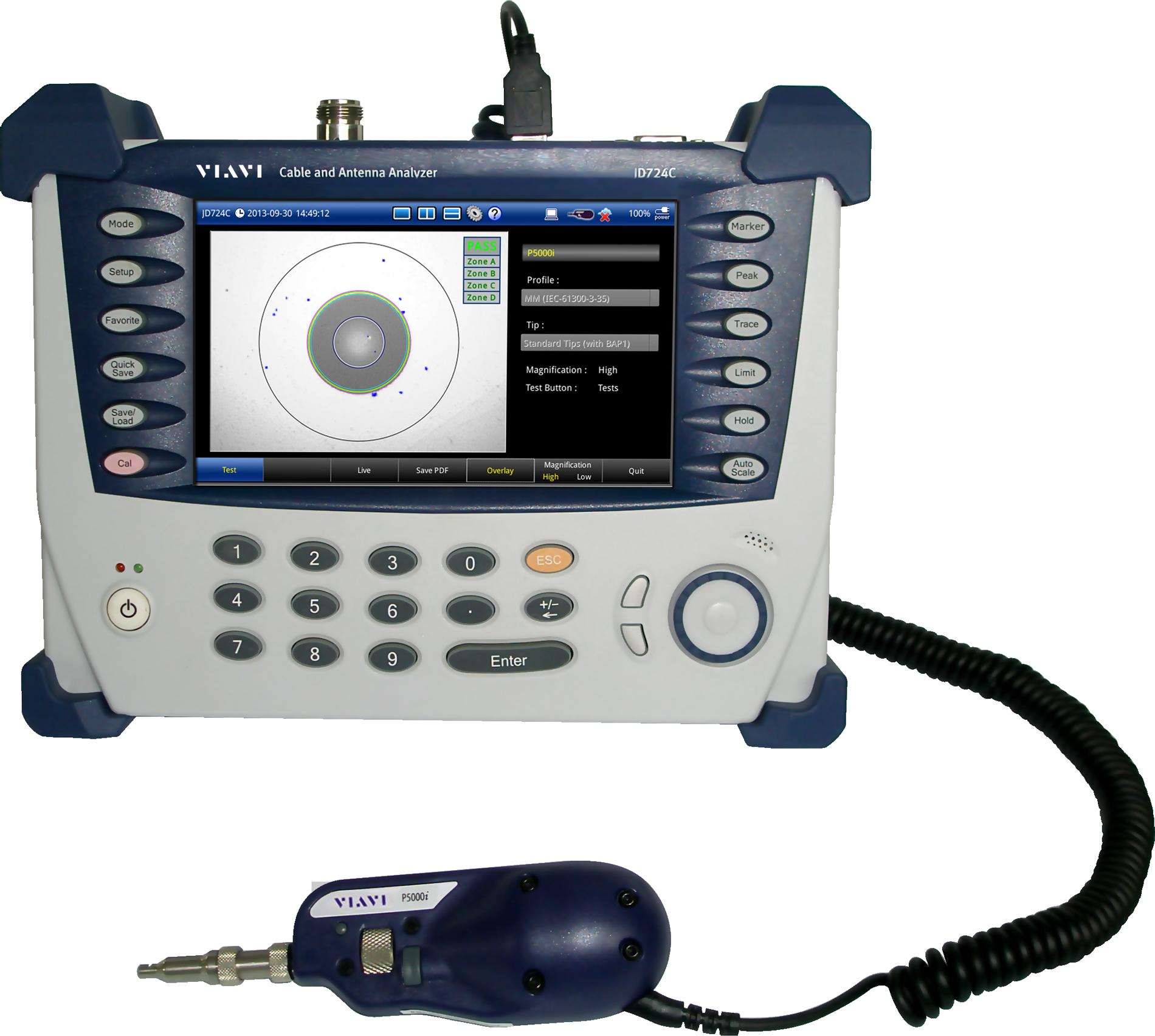 Cable and Antenna Analyzer - Integrated Fiber/Coax | VIAVI CellAdvisor
