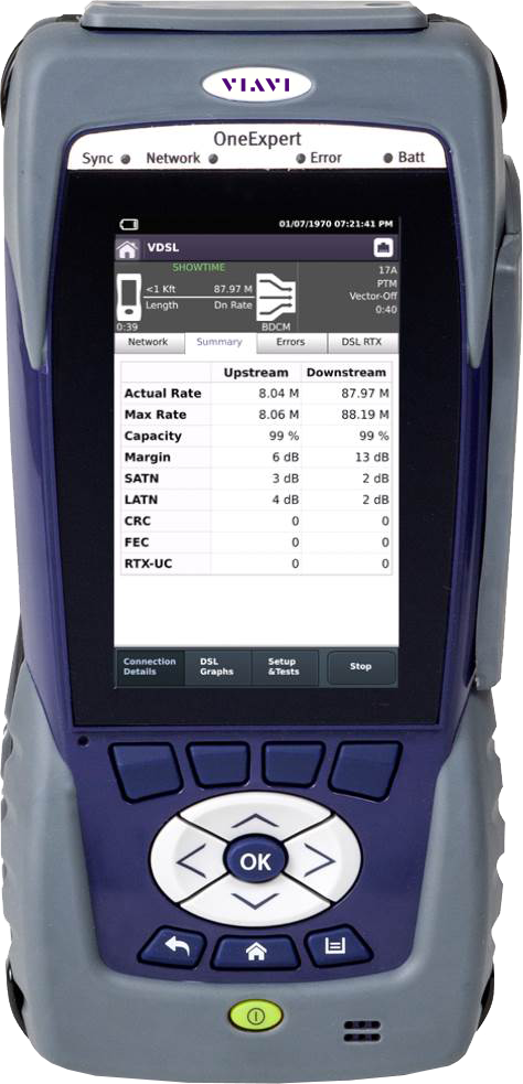 Copper dsl wifi broadband test viavi solutions inc oneexpert dsl modular field test platform for gfast xdsl copper ftth verification and wifi 1betcityfo Images