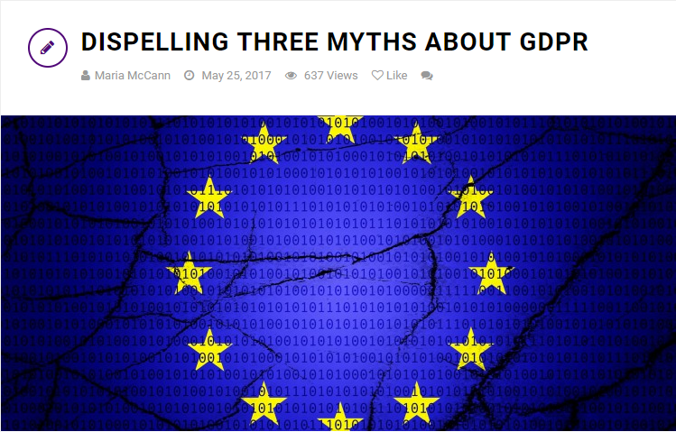 Dispelling Three Myths About EU GDPR Compliance