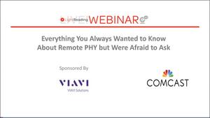 R-PHY Webinar Series | VIAVI Solutions Inc