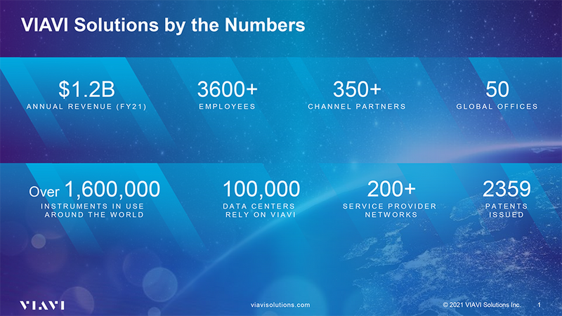 VIAVI Solutions by the Numbers