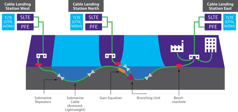 Flat Sub Cable Network Diagram