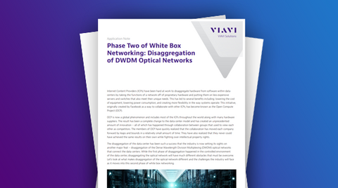Disaggregation of Optical Networks