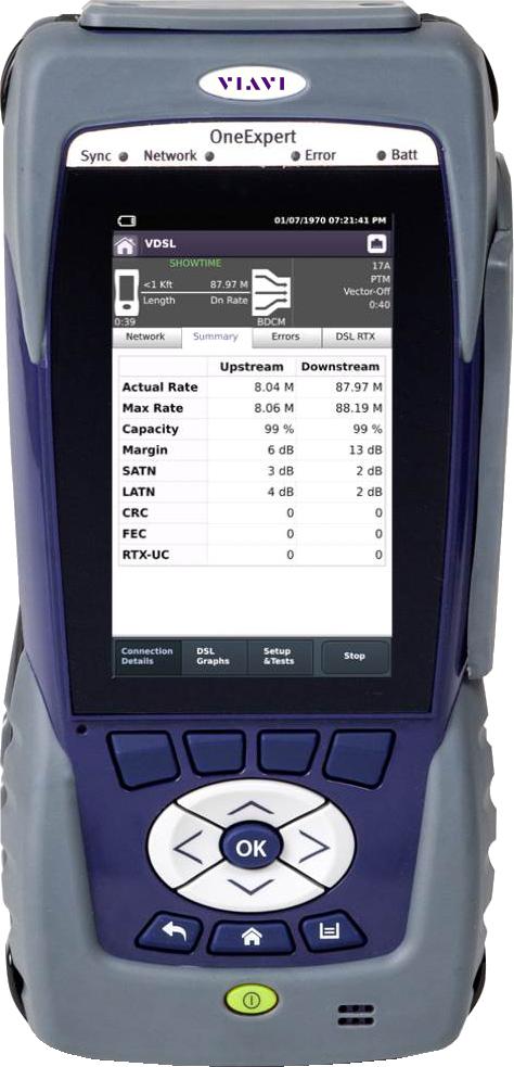 OneExpert DSL Modular Field Test Platform for G.fast, xDSL, Copper ...